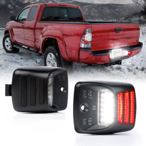 Led License Plate Light Assembly W Red Running Lamp For Toyota Tacoma Tundra