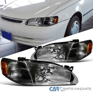 For 98 00 Toyota Corolla Replacement Black Headlights Corner Turn Signal Lamps