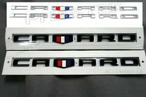 2x New 2016 2019 For Chevy Camaro Fender Badge Emblem Set Black Or Silver