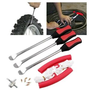 12 Pc Kit Tire Lever Spoons Set Iron Motorcycle Bike Tire Removing Tools