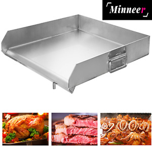 Stainless Steel Heavy Flat Top Griddle Grill For Home Single triple Burner Stove