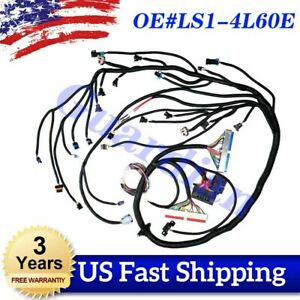 Ls1 4l60e Wiring Harness Stand Alone For Ls Swaps Dbc 4 8 5 3 6 0 97 06 98 99 00