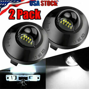 2x Led License Plate Light Lamp Assembly Replacement For Ford F150 F250 F350 New