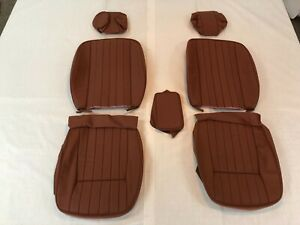 Jaguar Xke Series Ii Iii 1969 74 Replacement Front Seat Kit Cinnamon Leather