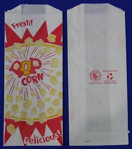1 Oz Popcorn Snack Paper Bags 3 5 X 2 X 8 Concession Machine Supplies