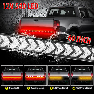 60 540led Truck Strip Tailgate Light Bar Reverse Brake Tail Flowing Turn Signal