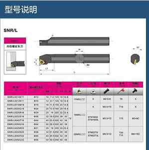 Snl0040t22 Inner Tooth Indexable Thread Tool Holder Turning Tool For Cnc Lathe