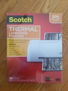 Scotch 8 5 X 11 Inches Clear Thermal Laminating 200 Count Pouches Sealed
