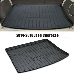 For Jeep Cherokee 2014 2018 All Weather Rear Trunk Mat Cargo Liner Floor Mats