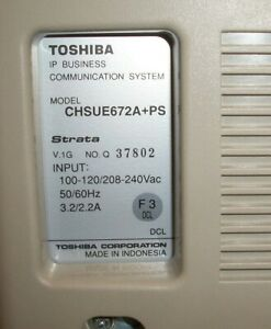 Toshiba Strata Cix Ctx 670 1200 Chsue672a Ps Expansion Cabinet W Power Supply
