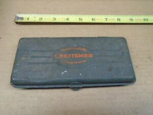 Vintage Craftsman Usa Socket Set Metal Box Box Only No Tools