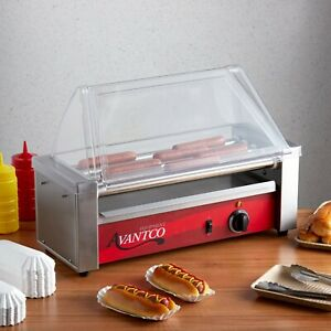 Commercial Concession Stand 12 Hot Dog Roller Grill With 5 Rollers 120v 430w