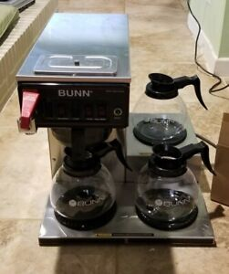 Bunn Cwtf35 Cw Series 3 Burner Commercial Industrial Coffee Maker 3 New Pots