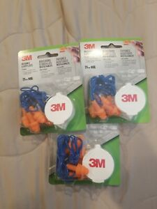 3m 90716 80025t Corded Reusable Earplug 9 pairs With 3 Cases