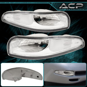 For 97 2004 Chevy Corvette C5 Z06 Chrome Front Bumper Parking Signal Light Lamp
