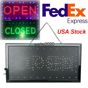 Bright Open closed Led Light Business Store Bar Coffee Cafe Sign Neon Portable