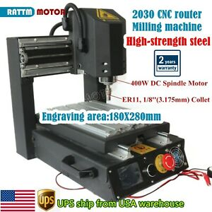 in Usa high Strength Steel 2030 400w Dc Cnc Router Engraver Machine Ac110v 220v