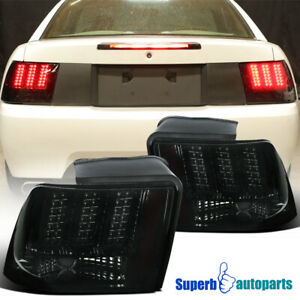 For 1999 2004 Ford Mustang Led Sequential Tail Lights Signal Brake Lamps Smoke