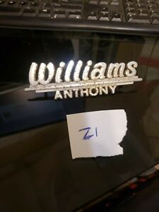 Vintage Williams Anthony Metal Car Dealership Emblem Nameplate Badge