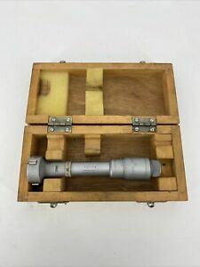Spi 1 2 1 4 Hole Micrometer With Wooden Case