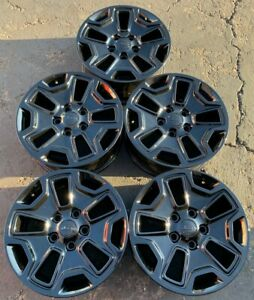 Set Of 5 Jeep Wrangler 17 Rubicon Alloy Oem Wheels 2013 2020 Gloss Black 9118