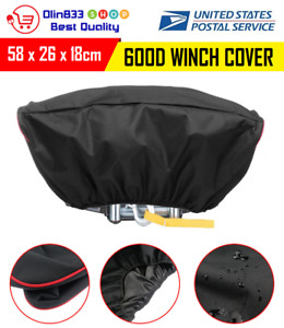 600d Waterproof Soft Winch Heavy Dust Cover Driver Roll Recovery 5000 13000lbs
