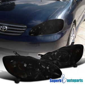 For 2003 2008 Toyota Corolla Diamond Style Headlights Head Lamps Replacement