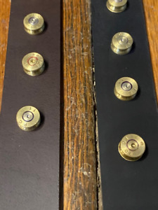 JT#x27;s Bad Ass Leather 1.25quot; Dog Collar Once Fired Military 7.62 Brass Bullets $41.95