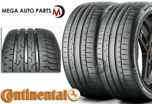 2 New Continental Sportcontact 6 245 35zr19 93y Xl Tires