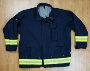 Globe Lifeline Emt Ems Tech Rescue Firefighter Turnout Jacket Sz 2xl