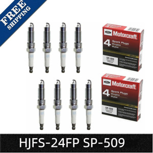 Pack Of 8 Ford Motorcraft Sp 509 Hjfs 24fp Platinum Spark Plugs For Super Duty