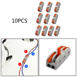 10pcs Wire connector Terminal block Wiring cable Universal Push in