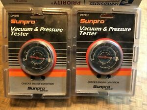 2 Sunpro Vacuum Pressure Testers Cp7802 Test Engine Condition Ford Chevy Gmc
