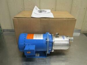 G l Goulds Hms 1hm1e5d3ew Pump Centrifugal 15 Gpm 4 Stage 1 Hp Stainless Steel