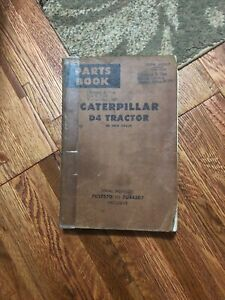 Caterpillar D4 Tractor Parts Book Good To Very Good Condition Paper