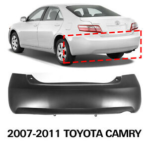 New Primed Rear Bumper Cover For 2007 2011 Toyota Camry 5215906950 To1100243
