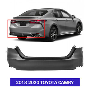 Primered Rear Bumper Cover For 2018 2019 2020 Toyota Camry To1100333 521590x913