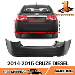 Rear Bumper Cover For 2011 2012 2013 2014 2015 Chevy Cruze Gm1100876 95016694