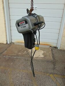 Jet 1 ton Electric Chain Hoist 1 phase 10 Lift 1ss 1c