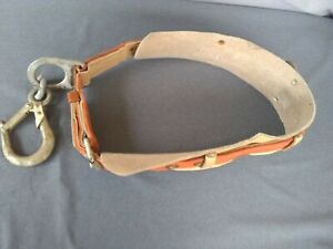 Vintage Size Large 36 44 Klein Tools Leather Lineman Climbing Belt Kl 5411