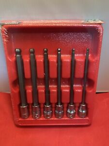 New Snap On 6 Piece 3 8 Long Ball Hex Socket Driver Set 206efabl