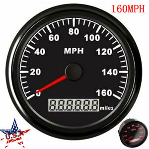 85mm Gps Speedometer Gauge Waterproof 160mph For Car Marine Truck Motorcycle Us