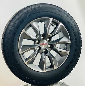 20 Gmc Sierra Yukon Gunmetal Oem Wheels Goodyear A t Tires New Takeoff