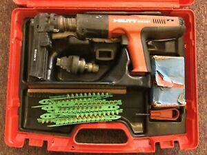 Hilti Dx351 Powder Actuated Tool Nail Gun Fastener Kit With Case