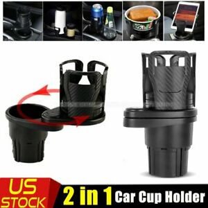 Car Double Cup Holder Expander Auto Drink Holder 360 Rotating Adjustable Base