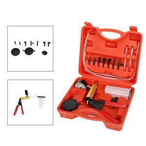 Hand Held Vacuum Pressure Pump Tester Set Brake Fluid Bleeder Bleeding Kit Case