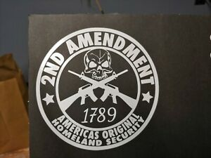 2nd Amendment Vinyl Window Decals For Cars Truck Laptop Toolbox Hunting Sticker