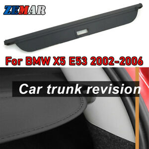 Car Rear Trunk Cargo Cover For Bmw X5 E53 2002 2003 2004 2005 2006 Black Styling