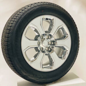 New Takeoff 20 Chrome Wheels Bridgestone Tires Fits 2000 18 Gmc Chevy 1500