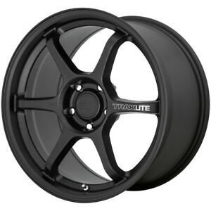 4 Motegi Mr145 Traklite 3 0 18x8 5 5x112 42mm Satin Black Wheels Rims 18 Inch